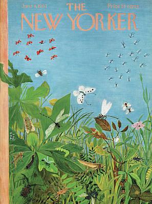 Spring Painting - New Yorker June 9th, 1962 by Ilonka Karasz