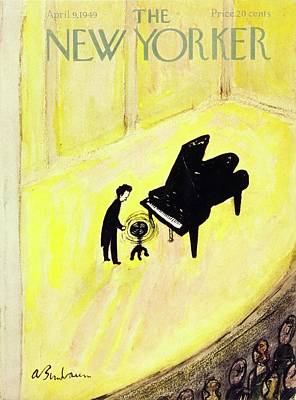 Audience Painting - New Yorker Magazine Cover Of A Pianist On Stage by Aaron Birnbaum