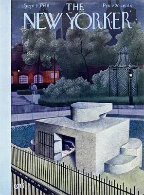 Zoo Painting - New Yorker Magazine Cover Of A Seal Enclosure by Charles Martin