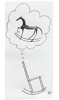 Philosophical Drawing - New Yorker March 10th, 1962 by Saul Steinberg