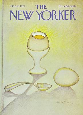 Food Painting - New Yorker March 10th 1973 by Andre Francois