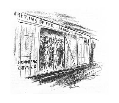 Transportation Drawing - New Yorker March 11th, 1944 by Alan Dunn
