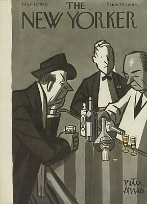 Alcohol Painting - New Yorker March 11th, 1950 by Peter Arno