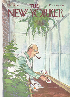 Boxes Painting - New Yorker March 11th, 1967 by Charles Saxon