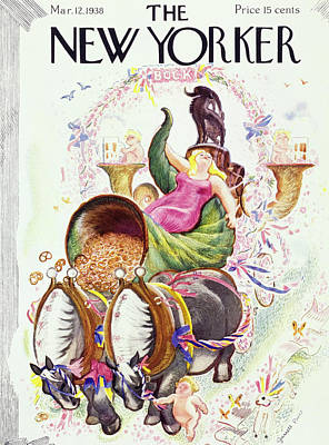 Food And Beverage Painting - New Yorker March 12 1938 by Garrett Price
