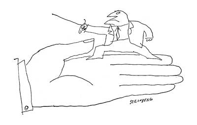 Sports Drawing - New Yorker March 12th, 1960 by Saul Steinberg
