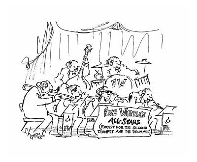 Jazz Drawing - New Yorker March 12th, 1979 by Sidney Harris