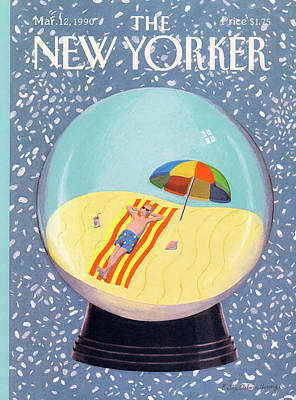 Travel Painting - New Yorker March 12th, 1990 by Kathy Osborn