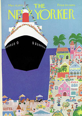 Liner Painting - New Yorker March 14th, 1970 by Charles E. Martin