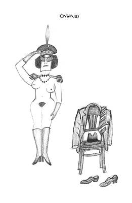 Montage Drawing - New Yorker March 14th, 1994 by Saul Steinberg