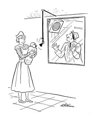 Nurse Shark Drawing - New Yorker March 15th, 1941 by  Alain