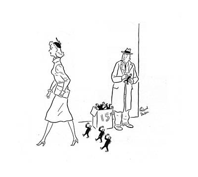 Rde Drawing - New Yorker March 15th, 1941 by Richard Decker