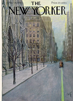 Arthur Getz Painting - New Yorker March 16th, 1957 by Arthur Getz