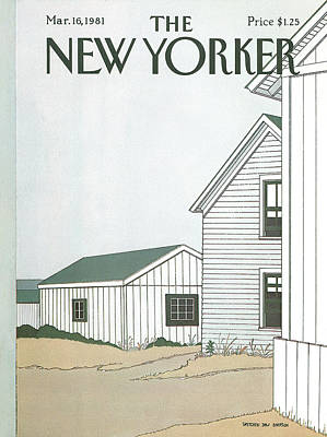 In A Row Painting - New Yorker March 16th, 1981 by Gretchen Dow Simpson