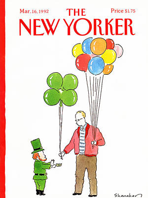 Four Leaf Clover Painting - New Yorker March 16th, 1992 by Danny Shanahan