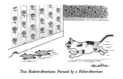 Rodent Drawing - New Yorker March 16th, 1992 by J.B. Handelsman