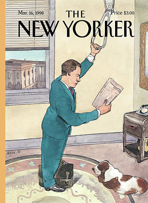 New Yorker March 16th, 1998 Art Print by Barry Blitt