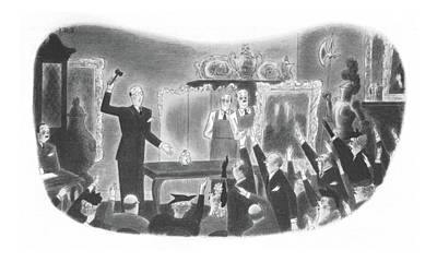 Bid Drawing - New Yorker March 18th, 1944 by Richard Taylor
