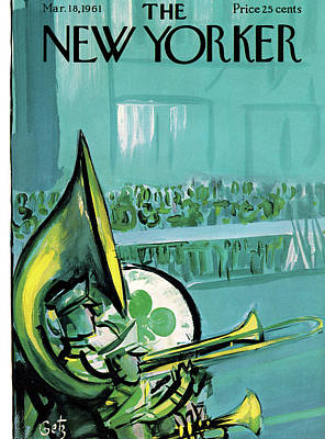 Four Leaf Clover Painting - New Yorker March 18th, 1961 by Arthur Getz