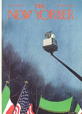 Flag Painting - New Yorker March 18th, 1972 by Charles E. Martin
