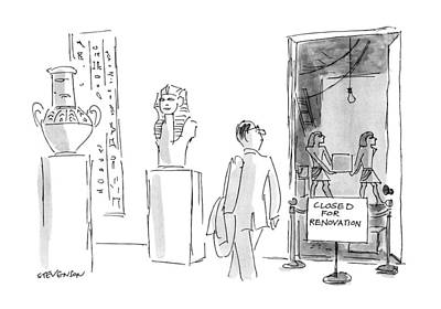Ancient Egyptian Drawing - New Yorker March 18th, 1991 by James Stevenson