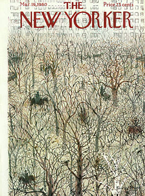 Winter Trees Painting - New Yorker March 19th, 1960 by Garrett Price