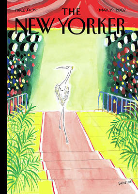 Painting - New Yorker March 19th, 2007 by Jean-Jacques Sempe