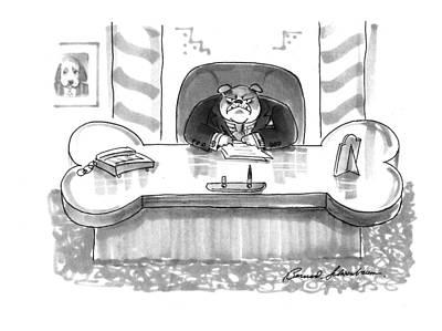 Shapes Drawing - New Yorker March 1st, 1993 by Bernard Schoenbaum