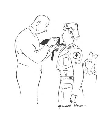 Ties Drawing - New Yorker March 20th, 1943 by Garrett Price