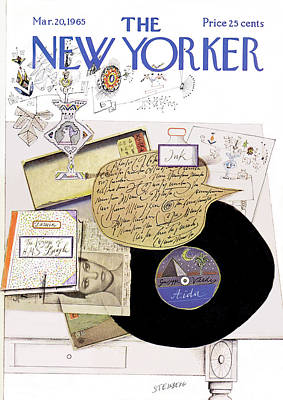 Montage Painting - New Yorker March 20th, 1965 by Saul Steinberg