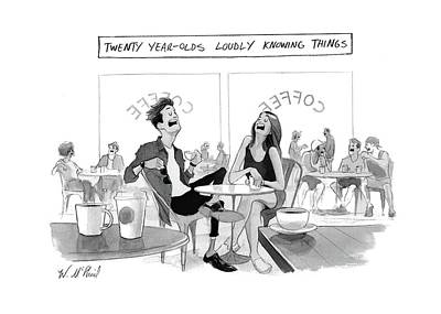 Loud Drawing - New Yorker March 20th, 2017 by Will McPhail