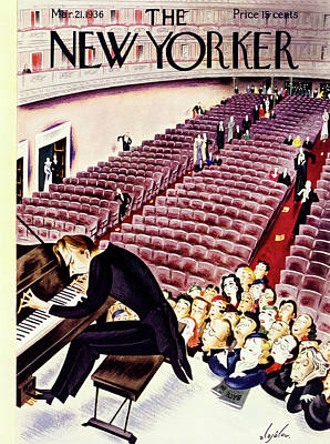 Audience Painting - New Yorker March 21 1936 by Constantin Alajalov
