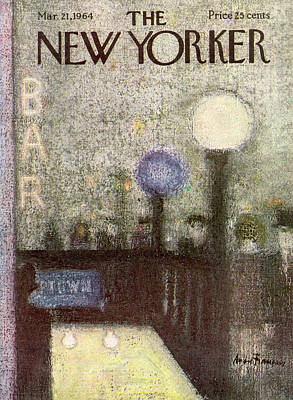 Fans Painting - New Yorker March 21st, 1964 by Andre Francois