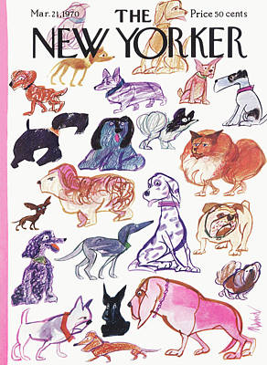 Dog Breeds Painting - New Yorker March 21st, 1970 by Kenneth Mahood