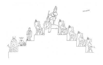 New Yorker March 22nd, 1958 Art Print by Saul Steinberg