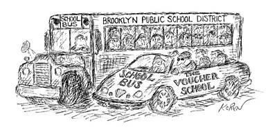 New Yorker March 22nd, 1999 Art Print by Edward Koren