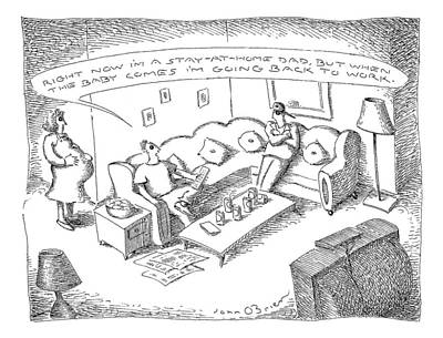 Back To Life Drawing - New Yorker March 22nd, 1999 by John O'Brien