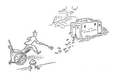Truck Drawing - New Yorker March 23rd, 1940 by Ned Hilton