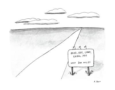 Sky Drawing - New Yorker March 23rd, 1987 by Roz Chast