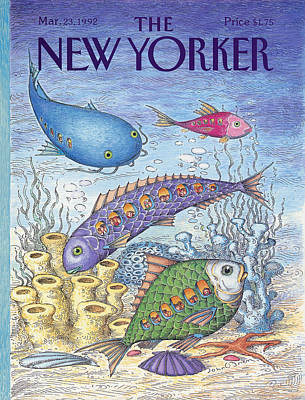 Under The Ocean Painting - New Yorker March 23rd, 1992 by John O'Brien