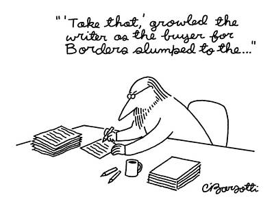 Slump Drawing - New Yorker March 23rd, 1998 by Charles Barsotti