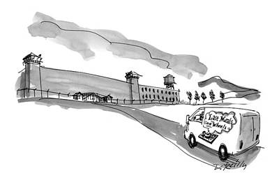 Charity Drawing - New Yorker March 23rd, 1998 by Donald Reilly