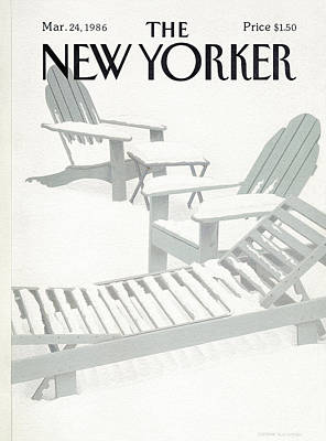 Simpson Painting - New Yorker March 24th, 1986 by Gretchen Dow Simpson