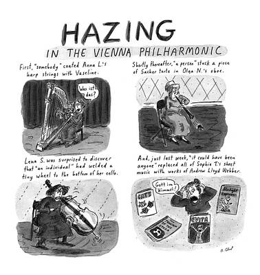 Sheet Music Drawing - New Yorker March 24th, 1997 by Roz Chast