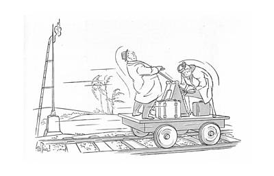Transit Drawing - New Yorker March 25th, 1944 by George Price