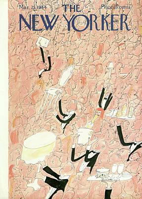 Food Painting - New Yorker March 25th, 1944 by Ludwig Bemelmans