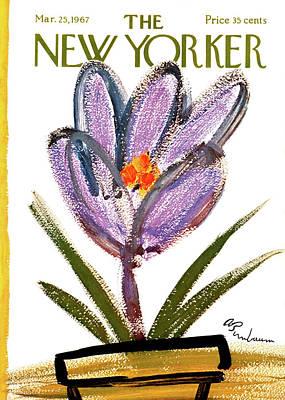 Abe Birnbaum Painting - New Yorker March 25th, 1967 by Abe Birnbaum