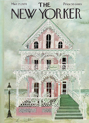 Porch Painting - New Yorker March 25th, 1974 by Laura Jean Allen