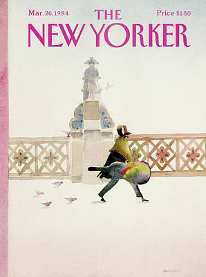 Cloudy Day Painting - New Yorker March 26th, 1984 by Susan Davis