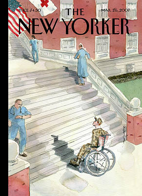 Handicapped Painting - New Yorker March 26th, 2007 by Barry Blitt